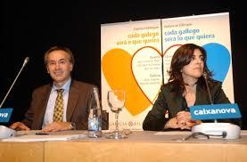 Presidente (d) y vicepresidente (i) de Galicia Bilingüe