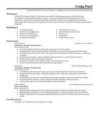 Maintenance Technician Resume Sample by Unforgettable Computer Repair Technician Resume Examples To Stand