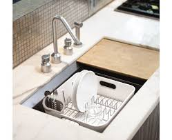 Simplehuman Compact Dishrack White - Kitchen sink dish rack