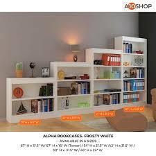 4 Shelf Bookcase White by Buy Alpha Bookshelf U0026 Storage Cabinet With 4 Shelf 67