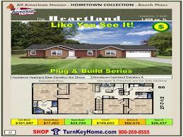 Shop Home Plans Heartland All American Modular Home Ranch Hometown Collection Plan