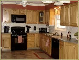 kitchen colors with white cabinets and black appliances powder