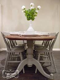 Oval Dining Room Tables Oval Dining Table And Six Chairs Pedestal Detail Anniesloanhome
