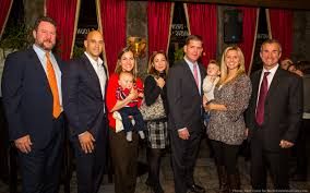 north end waterfront supporters turn out for marty walsh l r jason aluia chris pezzello alissa passacantilli tizzano with baby paulo linda paolo mayoral candidate marty walsh liana pedi bevilacqua with