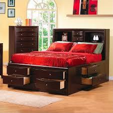 coaster phoenix bookcase storage bed in rich cappuccino finish