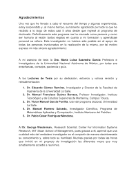 PhD thesis contents and Acknowledgements Slideshare Luisa Saavedra Garc  aM  xico  D F