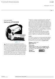 download free pdf for samsung vp dc161w camcorders manual