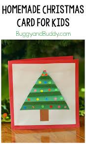 christmas crafts for kids homemade christmas card buggy and buddy