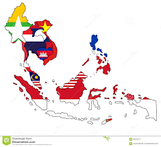 Southeast Map Southeast Asia Map Stock Illustration Image 58522371