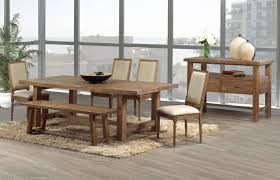 cool distressed wood dining room table interior design for home