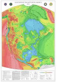 N America Map by Geothermal Current Maps Dedman College Smu