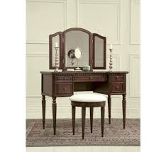 josephine cherry vanity bench badcock more beautiful vanity with tri fold mirror that incl
