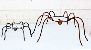 Gazing Ball Fountain Wrought Iron Spiders Gazing Ball Holders Pot Holders In 2 Sizes