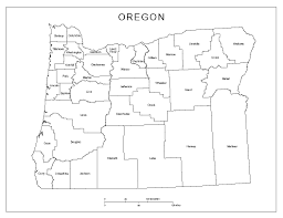 Maps Oregon by Oregon Labeled Map