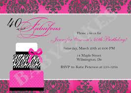 Birthday Invitation Cards Models 40th Birthday Party Invitation Wording Funny Redwolfblog Com