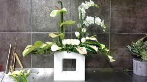 composition florale haute salle