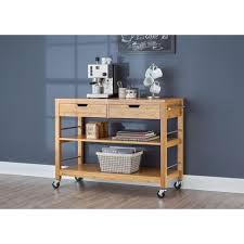 trinity 48 in bamboo kitchen island with drawers tbflna 1407