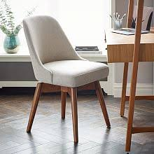 Upholstered Swivel Desk Chair by Modern Desk Chairs West Elm