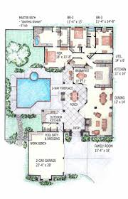 Floor Plans For One Level Homes by Best 20 Pool House Plans Ideas On Pinterest Small Guest Houses