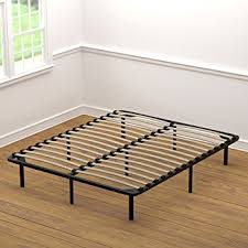 How To Build A Queen Platform Bed Frame by Amazon Com Handy Living Wood Slat Bed Frame Queen Kitchen U0026 Dining