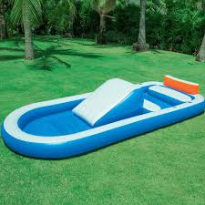 dual pool with slide