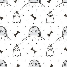 halloween cute background spooky halloween seamless pattern background with tombstone and