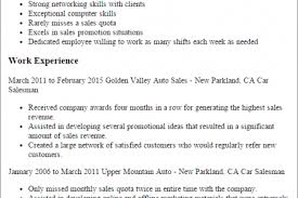 sales resume car salesman resume templates car salesman salesperson