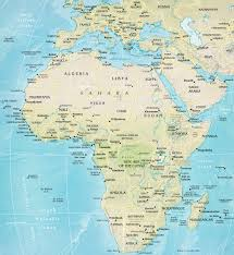 Map Of Kenya Africa by Africa Travel Physical Map Of African Countries