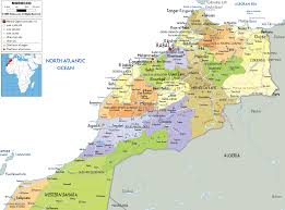 Political Map Of South America Detailed Clear Large Map Of Morocco Ezilon Maps