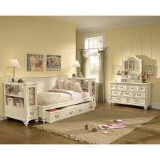 Vintage White Bedroom Furniture Bedroom White Full Daybed With Trundle And Shelves For Bedroom