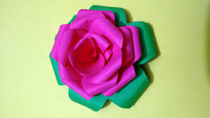 Home Design Graph Paper by How To Make Rose Flower By Colorful Paper Paper Craft For Home