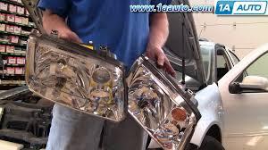 how to install replace headlight volkswagen jetta 99 04 1aauto com