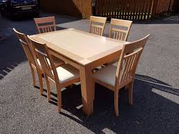 two tone wood dining table 6 maple chairs free delivery 578 in two tone wood dining table 6 maple chairs free delivery 578