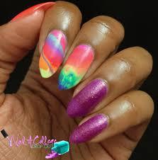 nail a college drop out china glaze lite brites nail art
