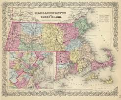 T Boston Map by Prints Of Old Massachusetts State Maps
