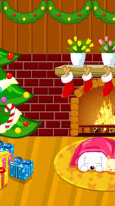 Simons Cat Christmas Tree by Download Wallpaper 750x1334 New Year Christmas Fireplace Fur