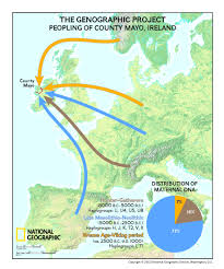 Map Of Ireland And England The Genographic Project Returns To Ireland To Reveal Dna Results