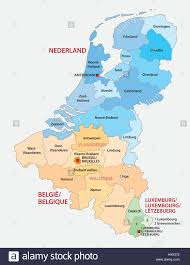 Luxembourg Map Administrative Map Of The Three Benelux Countries Netherlands