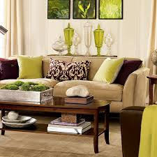 Ideas For Living Room Furniture by Lime Green And Brown Decor Ideas For The Living Room