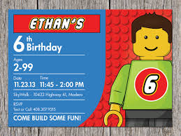 Birthday Invitation Cards For Kids How To Make Easy Lego Birthday Invitations Ideas Invitations