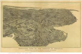 Brooklyn New York Map by Bird U0027s Eye Views Of Brooklyn New York City