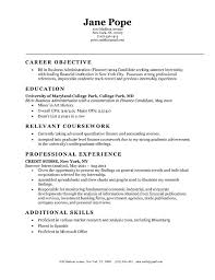 Entry Level Sample Resume Objective Examples   resume objective statement example