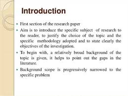 term paper introduction examples FAMU Online