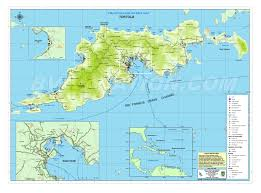 Thousand Islands Map Island British Virgin Islands
