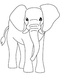 free printable coloring page and clipart e is for elephant zoophonics
