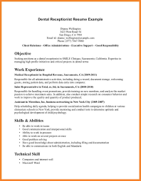 Technical Skills On Cv Medical Receptionist Resume Skills Resume For Your Job Application