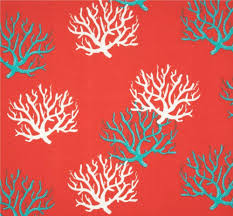 beach cottage designer coral fabric by the yard indoor outdoor