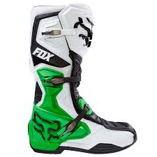 green motocross boots fox mx boots comp 8 white black green limited edition 2017