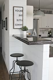 modern farmhouse decor built in stainless steel bbq grill dark