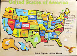 Printable Map Of The United States United States Map Puzzle Us States And Capitals Free Software